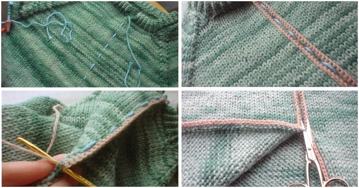 Разрежьте вязаную вещь, без риска спустить петли