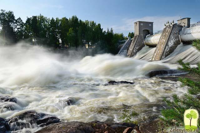 Завораживающий водопад Иматранкоски на плотине в Иматре, Финляндия - 17
