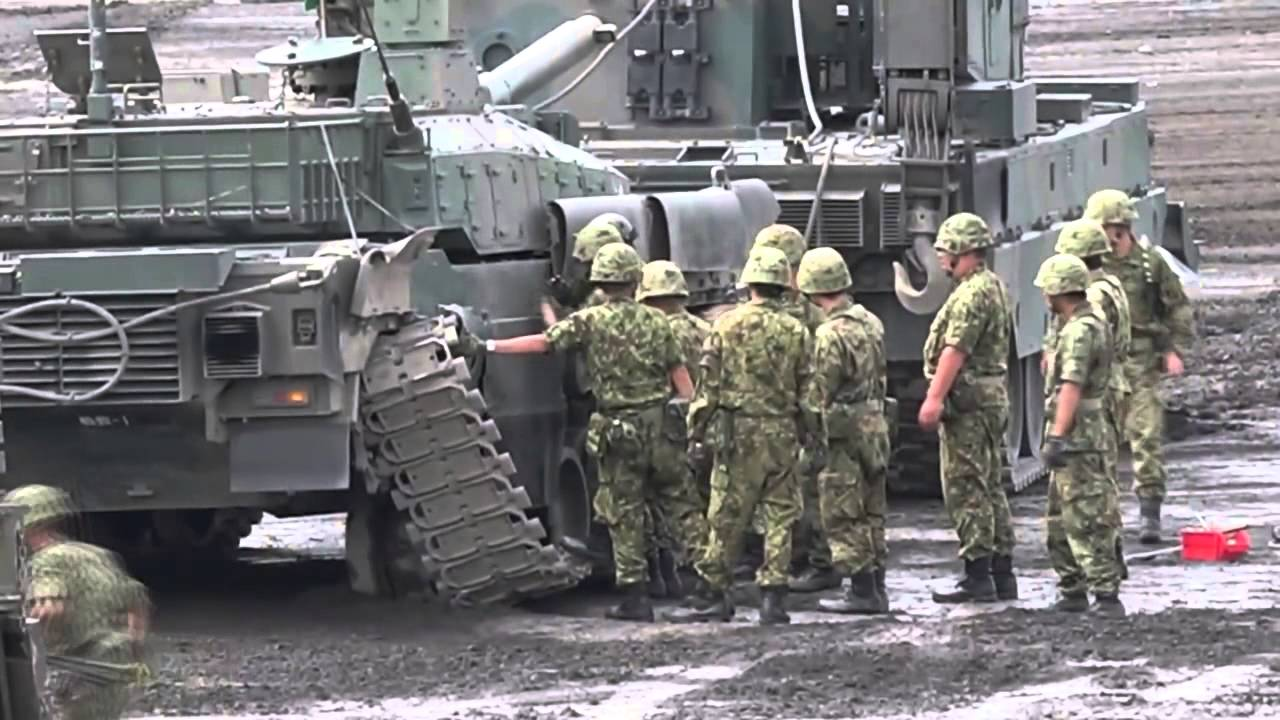 Как японцы танк чинили