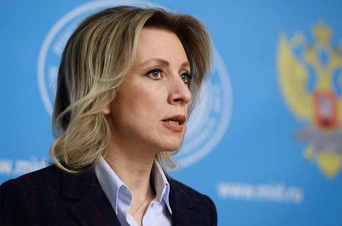 Мария Захарова проводит брифинг по актуальным вопросам внешней политики. 19.04.17