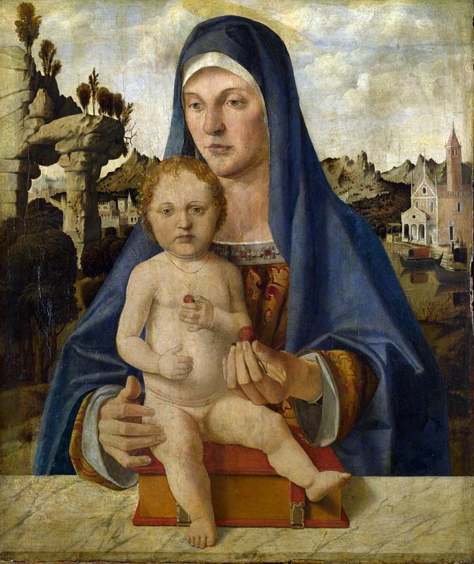 Bartolomeo Montagna - The Virgin and Child (1). Национальная галерея, Часть 1