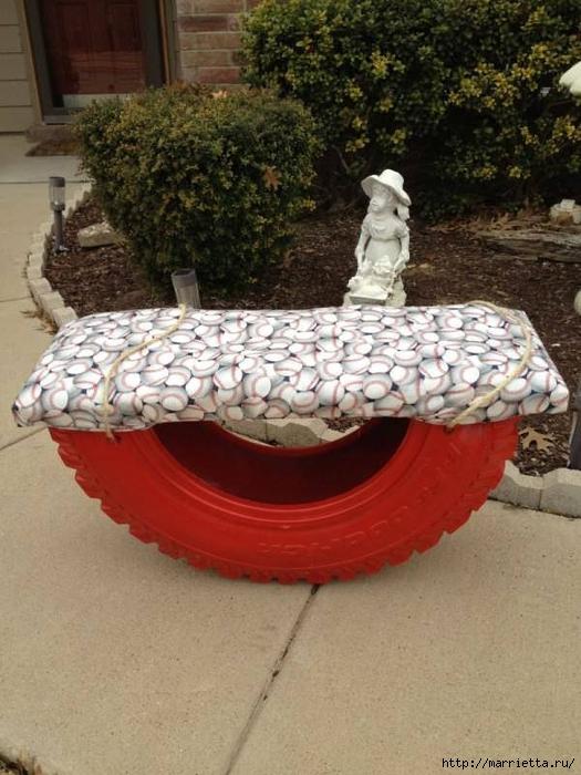 Что можно сделать из отработанных шин на даче своими руками фото 4