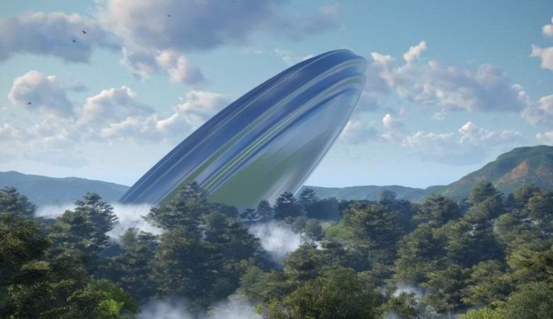 Объект, похожий на «летающую тарелку» обнаружили на карте Африки