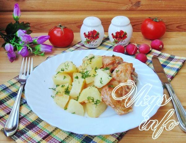 Курица с картошкой в сметане…