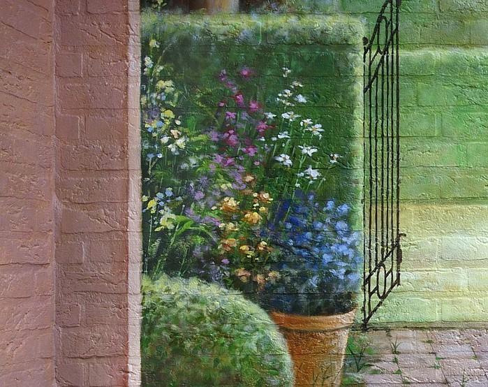 Роспись-обманка. Фиктивные расширения реального сада