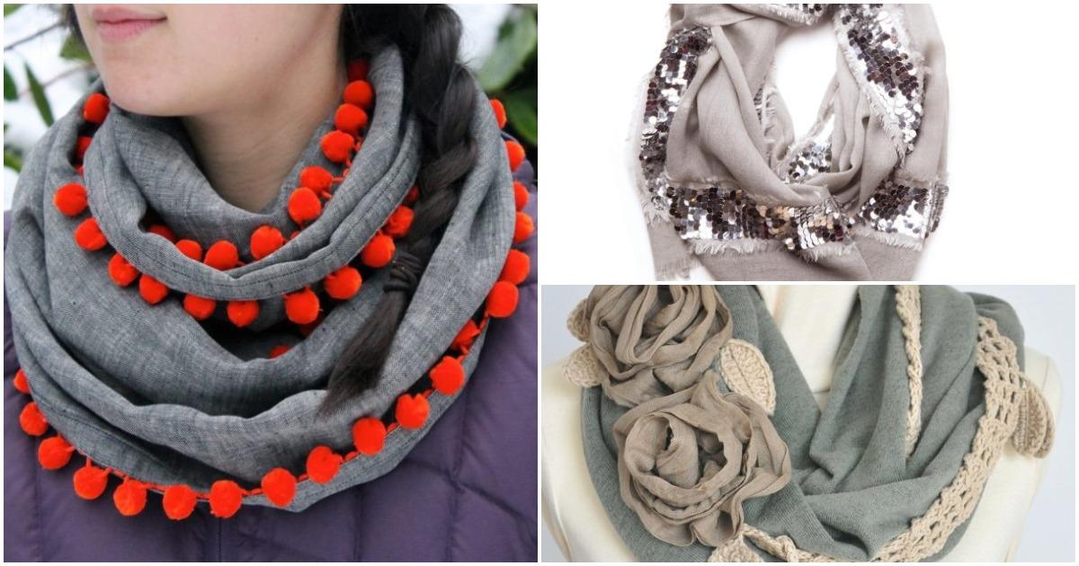 Обыкновенный шарф может превратиться в эксклюзивную вещь гардероба: 15 классных идей