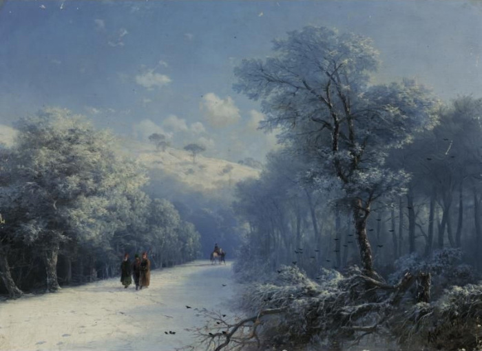 Неизвестный Айвазовский: Завораживающие зимние пейзажи прославленного мариниста