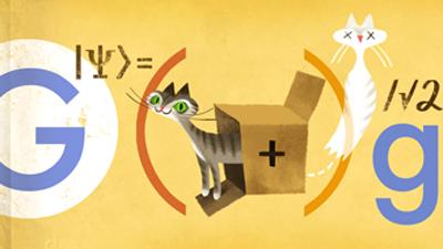 """Google отпраздновала День Рождение Шрёдингера """"дудлом"""" с котом"""