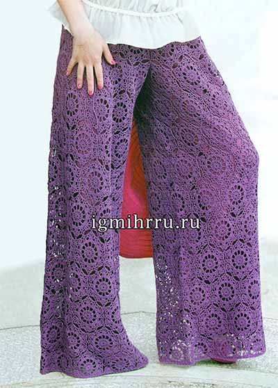 широкие летние брюки из мотивов