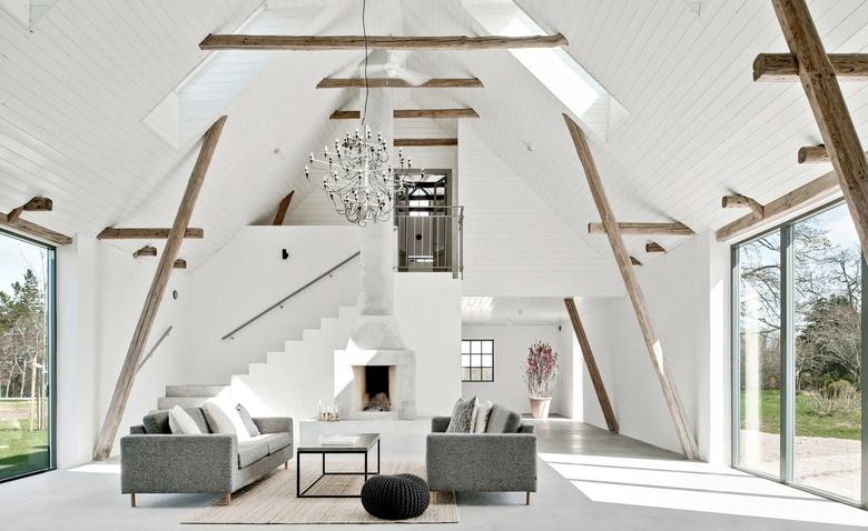 Великолепная трансформация старого сарая в современный дом