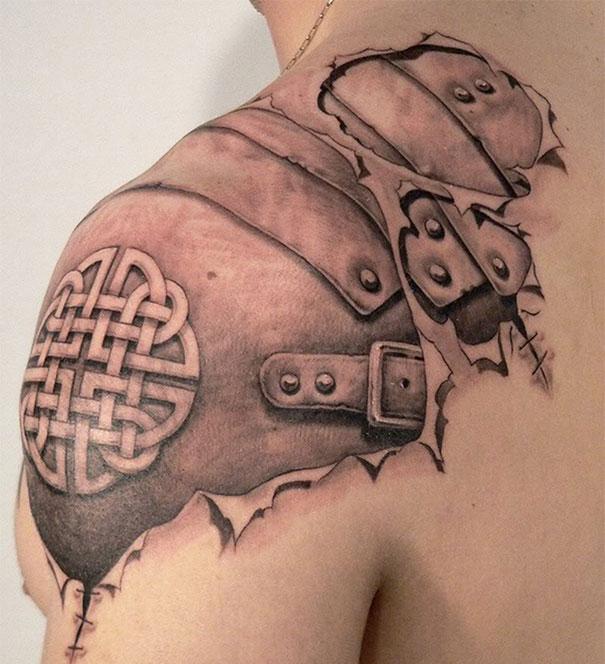 50 невероятных 3D татуировок  3d, татуировки