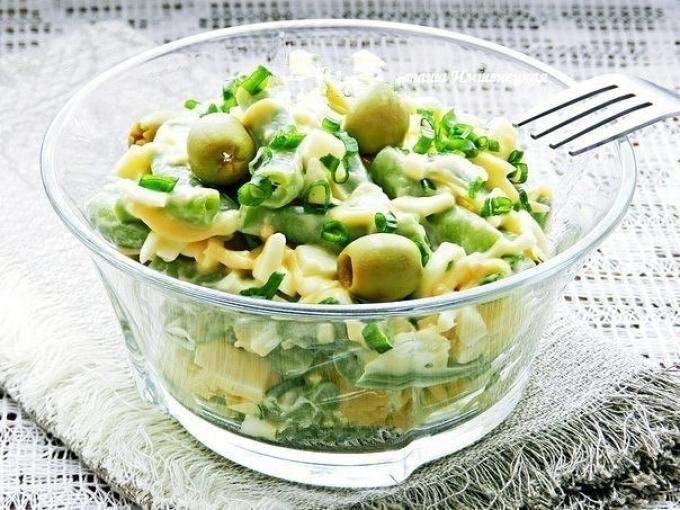 Легкий салатик к ужину. Готовлю его практически 3 раза в неделю