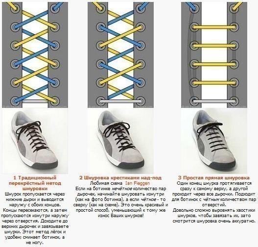 27 способов завязывания шнурков