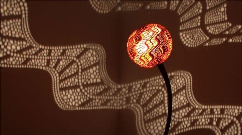 Уникальная лампа из высушенной африканской тыквы своими руками