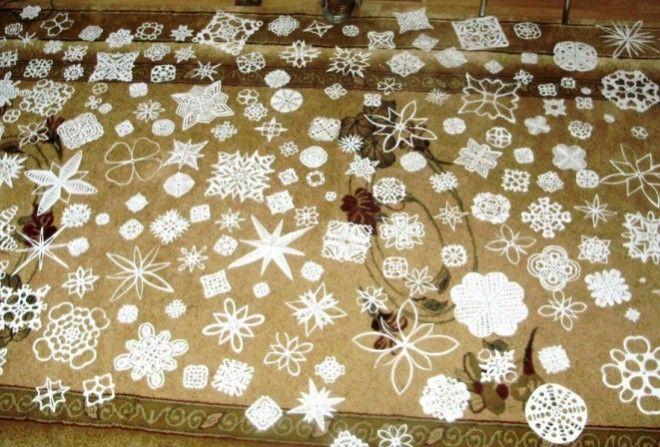 20 трафаретив для вырезания снежинок из бумаги