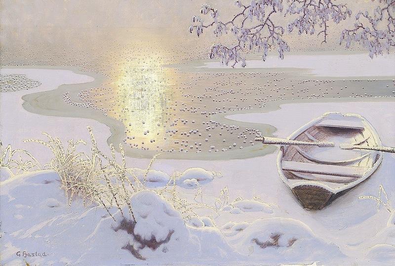 При свете солнечном на полыньях зеркальных… Шведский художник Gustaf Fjaestad