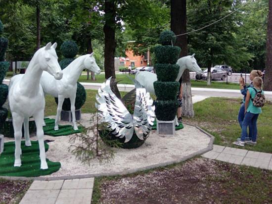 Детский парк в российской гл…
