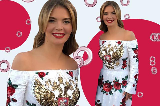 Новый образ Алины Кабаевой: в сети обсуждают платье гимнастки с гербом России на груди