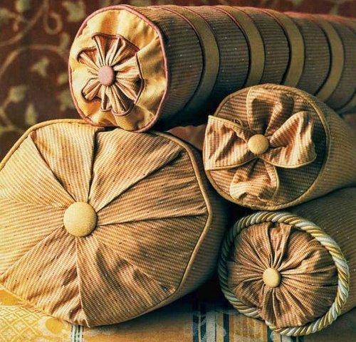 Декоративные подушки своими руками валик