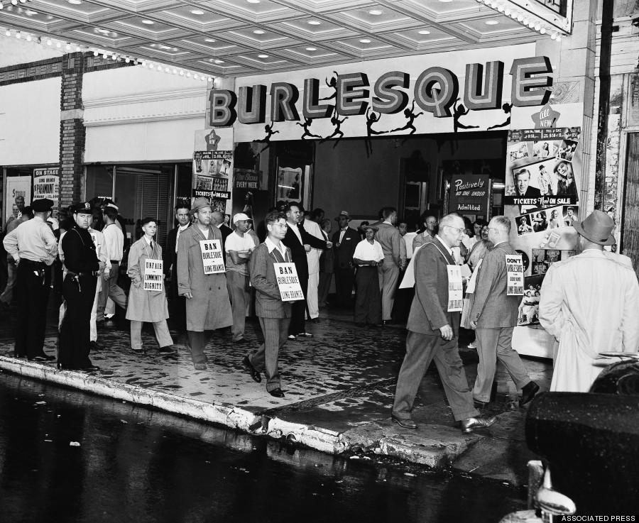 burlesque09 Краткая, но потрясающая история бурлеска в 1950 х годах