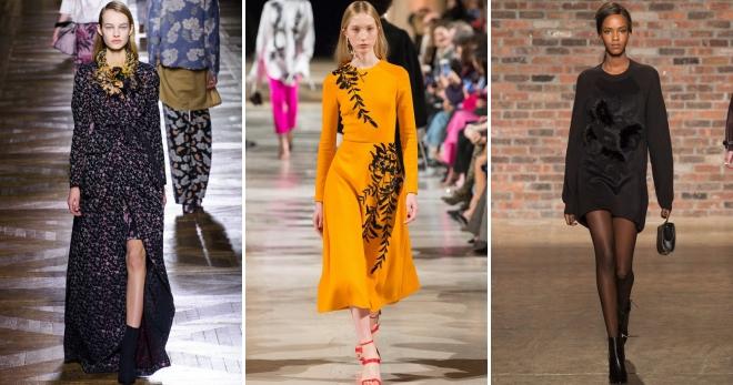 Осенние платья –  фото модных моделей на каждый день и для особых случаев