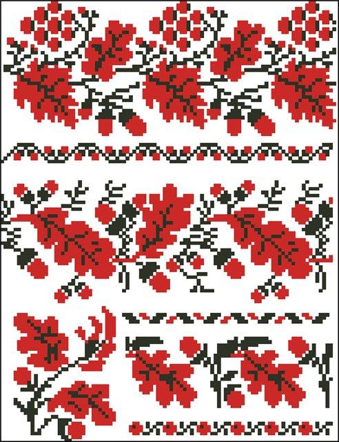 Схемы вышивки полотенца свадебного