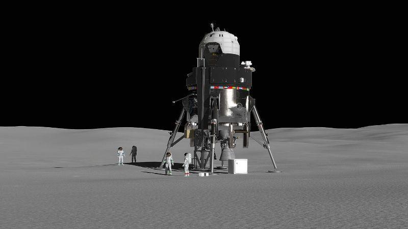 Компания Локхид Мартин предложила проект трехэтажного лунного модуля