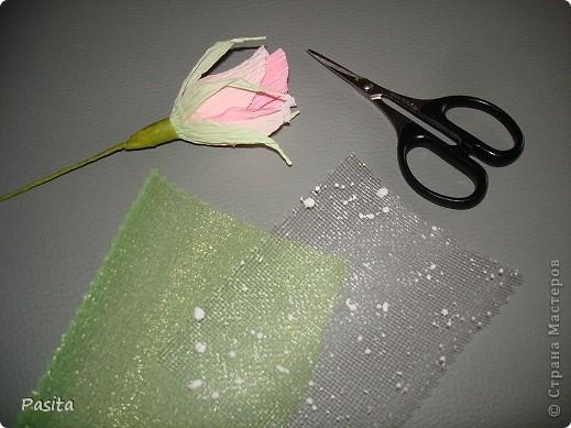 Мастер-класс, Свит-дизайн Моделирование: Бутон розы МК Бумага гофрированная. Фото 23