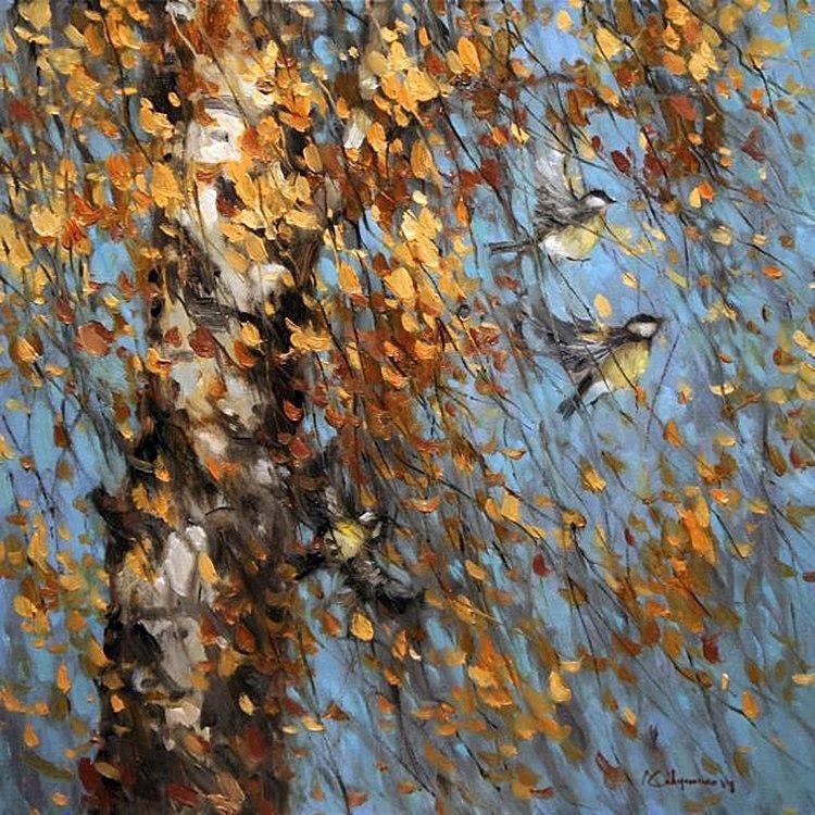 И в октябре бывают радостные дни... щемяще-прекрасные осенние пейзажи кисти Алексея Савченко