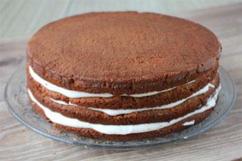 Торт из коржей пошагово