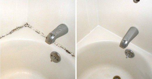 Как отчистить плесень в ванной за копейки