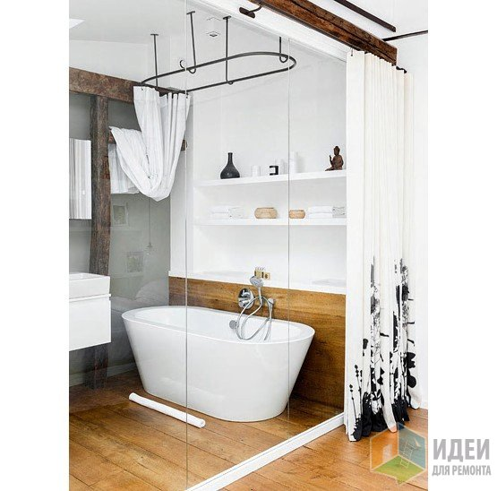 Большая ниша в ванной комнате, фото интерьера Lionel Moreau