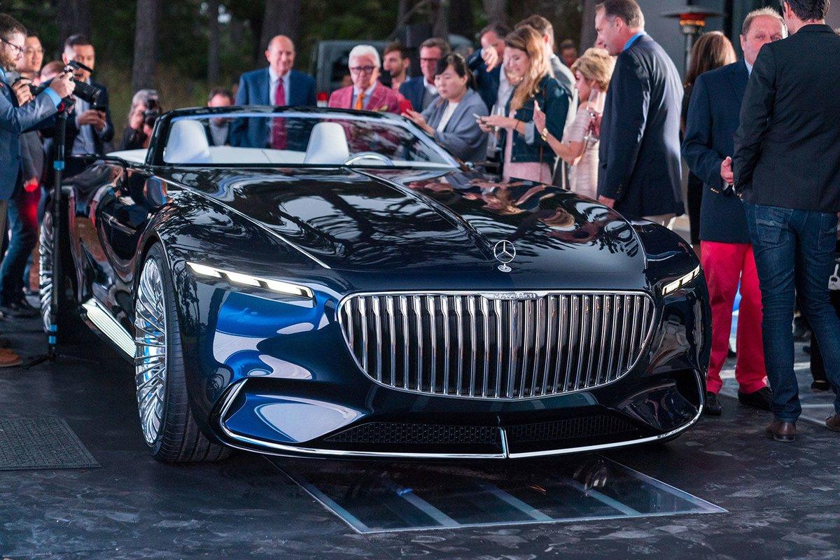 Электрический кабриолет Vision Mercedes-Maybach 6