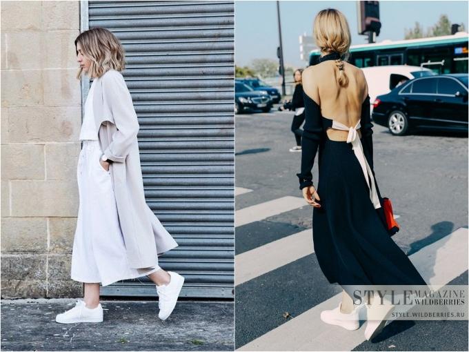 Несколько актуальных и оригинальных идей, как носить белые кеды?!