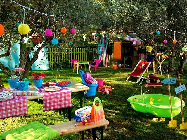 Праздник на даче для детей
