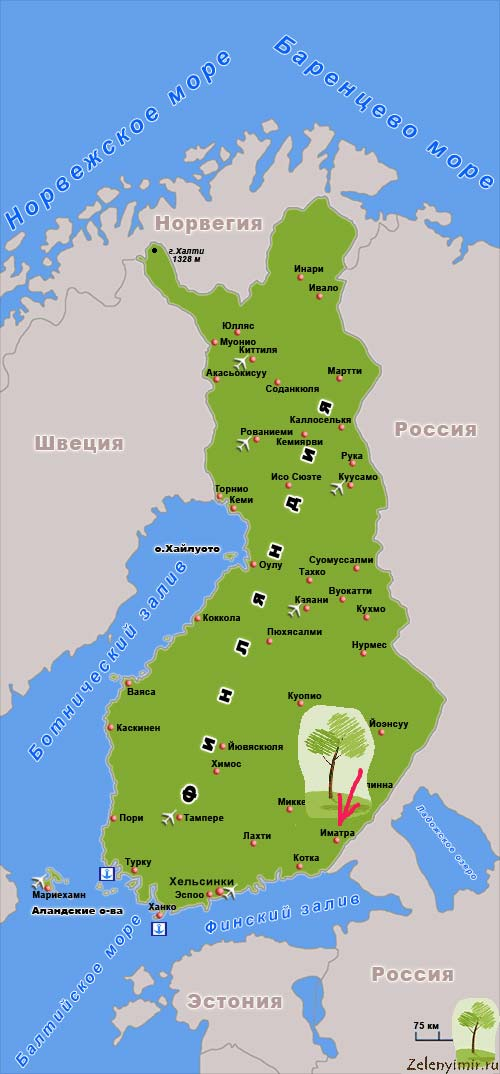 Завораживающий водопад Иматранкоски на плотине в Иматре, Финляндия - 18