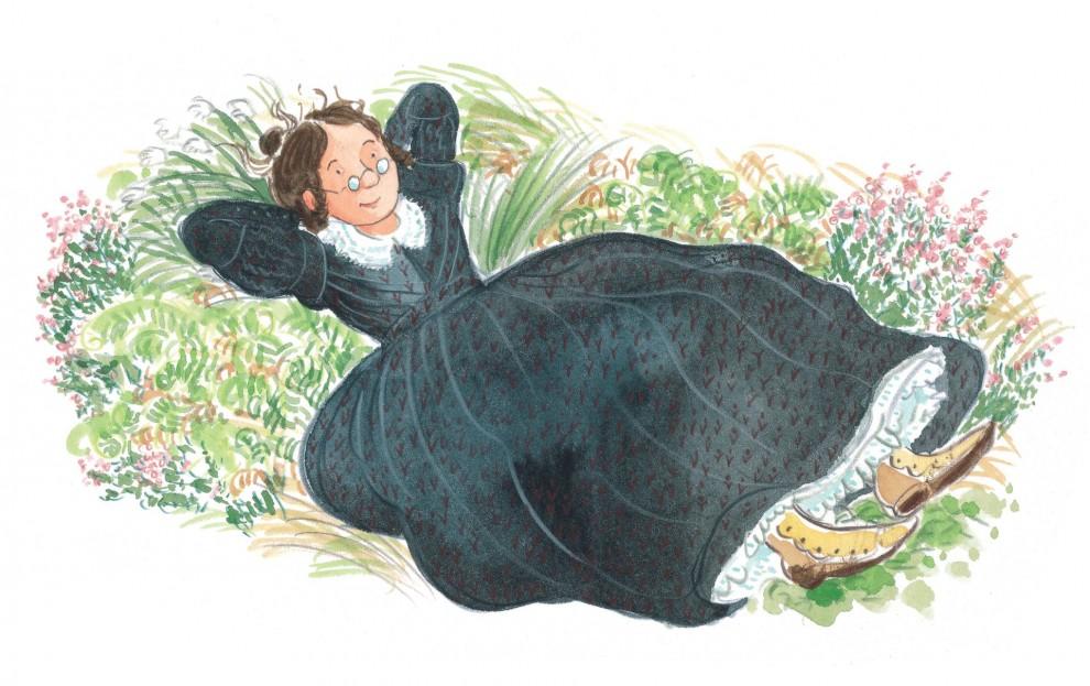 Иллюстрации из новой детской книги о жизни писательницы Шарлотты Бронте