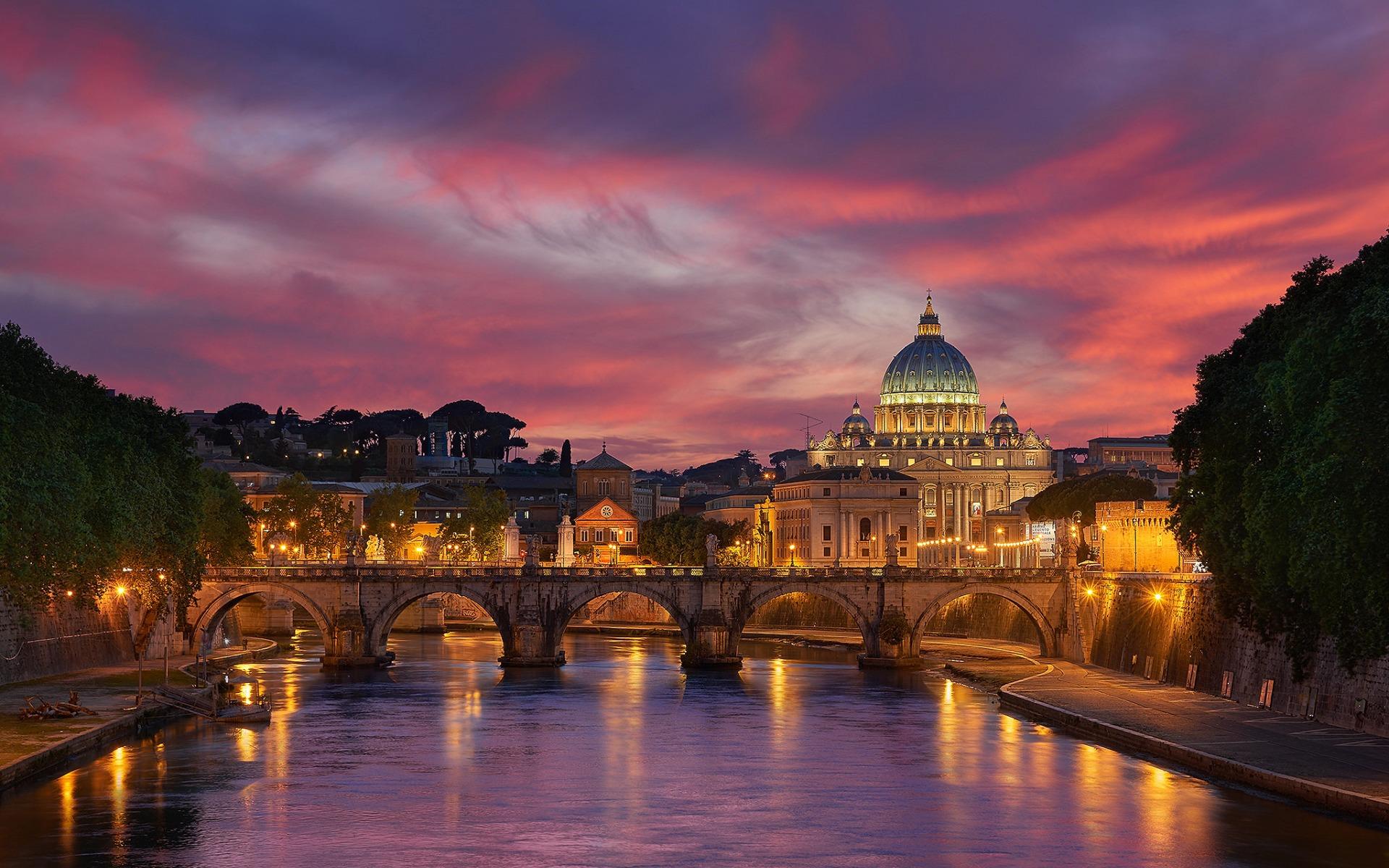 Вид на Ватикан.