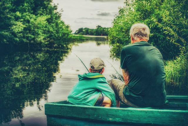 На рыбалку с внуком
