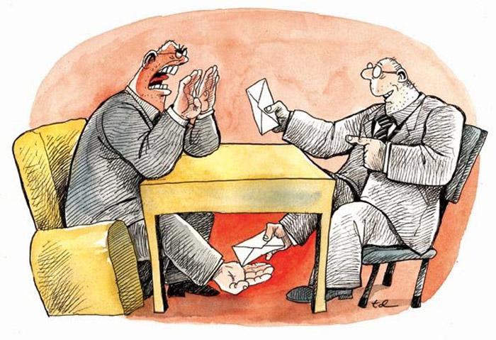 Карикатура  «Взятка»
