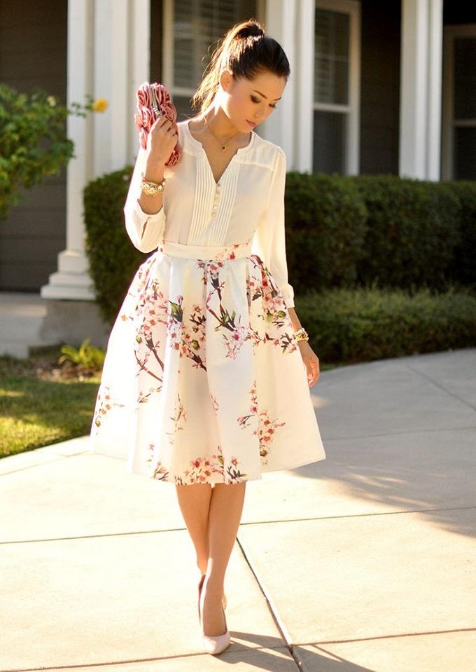 Выбор элегантности: 25 сногсшибательных вариантов юбки с завышенной талией. Часть 2