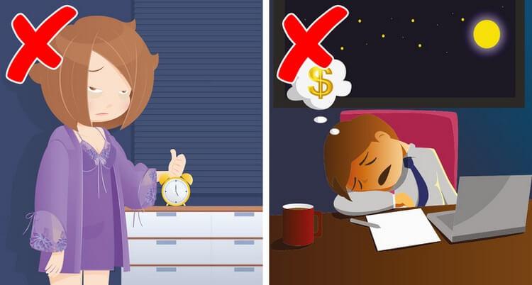 7 ошибок перед сном, из-за которых растёт вес