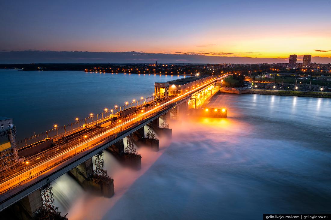Новосибирская ГЭС - водопад на Обском море