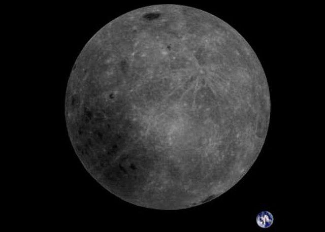 Земля и обратная сторона Луны на одном снимке