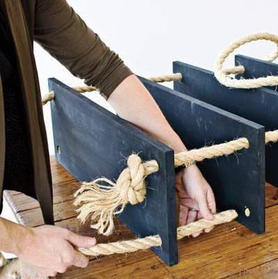 Подвесной стеллаж для дома своими руками 3