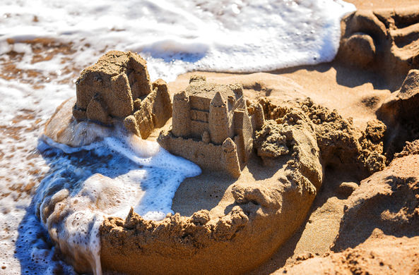 Британец вычислил формулу для создания идеального замка из песка
