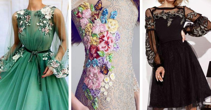15 исключительно красивых вечерних платьев с вышивкой