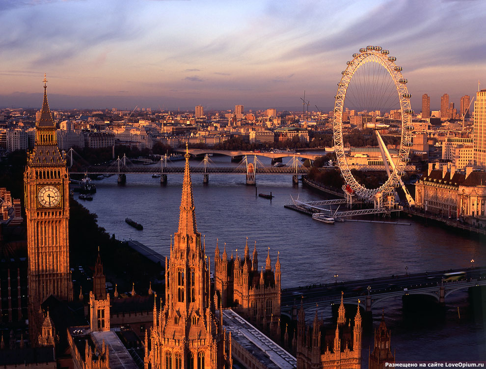 «Лондонский глаз» — одно из крупнейших колёс обозрения в мире