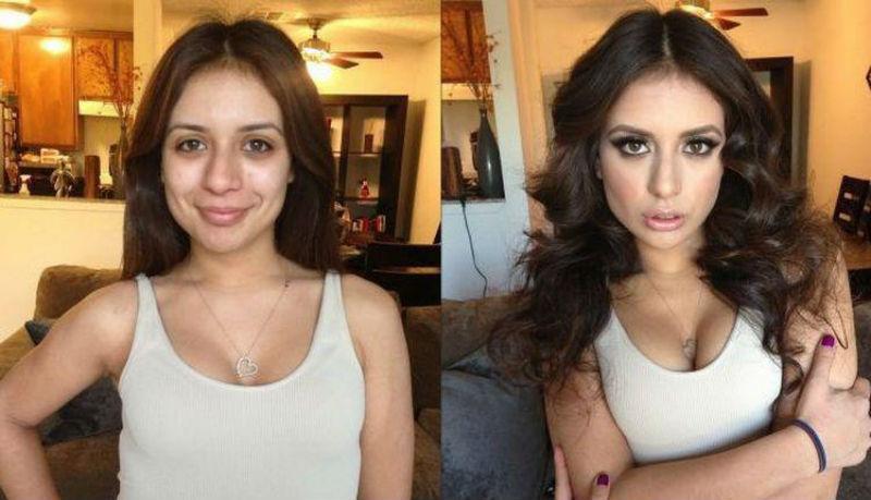 Чудеса макияжа от визажистки, которая работает с порноактерами