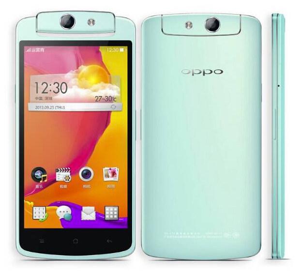 Oppo презентовала смартфон N1 mini с 13-мп вращающейся камерой